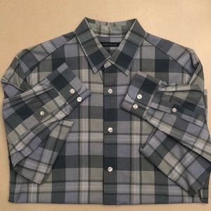 Perry Ellis Plaid Button Down